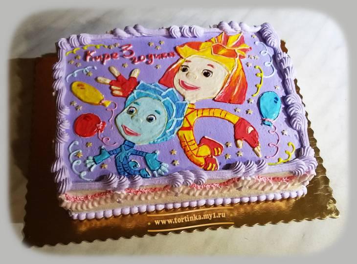 Фото как украсить торт для девочки на день рождения своими руками дома